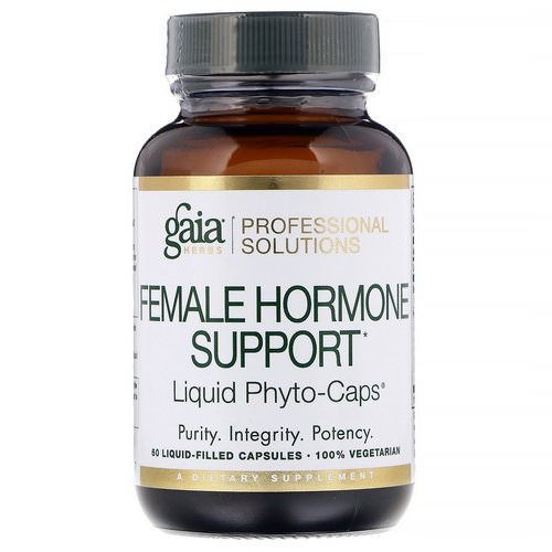 Gaia Herbs Professional Solutions, Female Hormone Support, 60 Liquid-Filled Capsules فوائد