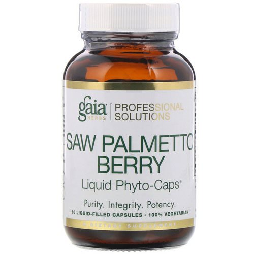 Gaia Herbs Professional Solutions, Saw Palmetto Berry, 60 Liquid-Filled Capsules فوائد