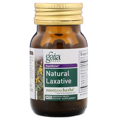 Gaia Herbs, Rapid Relief, Natural Laxative, 90 Tablets فوائد