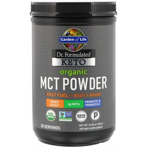 Garden of Life, Dr. Formulated Keto Organic MCT Powder, 10.58 oz (300 g) فوائد