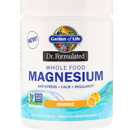 Garden of Life, Dr. Formulated, Whole Food Magnesium Powder, Orange, 14.8 oz (419.5 g) فوائد