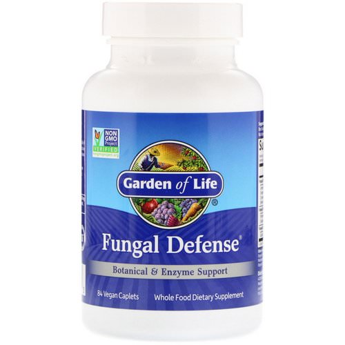 Garden of Life, Fungal Defense, 84 Vegan Caplets فوائد
