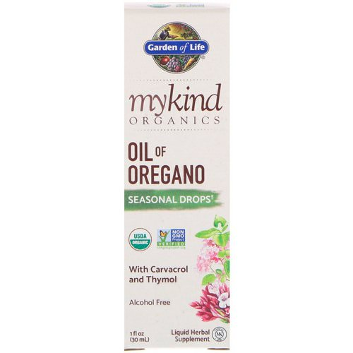 Garden of Life, MyKind Organics, Oil of Oregano, Seasonal Drops, 1 fl oz (30 mL) فوائد