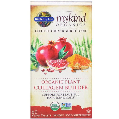 Garden of Life, MyKind Organics, Organic Plant Collagen Builder, 60 Vegan Tablets فوائد