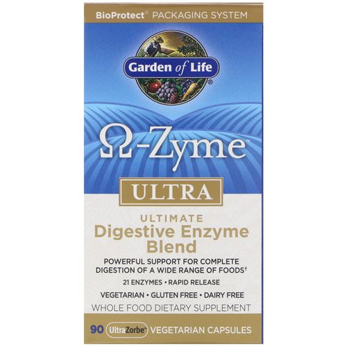 Garden of Life, O-Zyme Ultra, Ultimate Digestive Enzyme Blend, 90 UltraZorbe Vegetarian Capsules فوائد