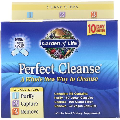 Garden of Life, Perfect Cleanse, 3 Easy Steps Kit فوائد