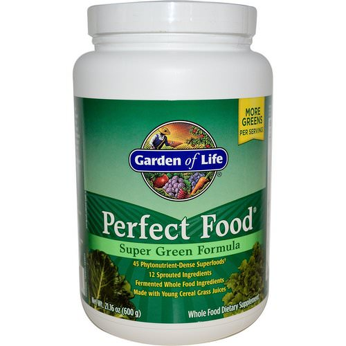 Garden of Life, Perfect Food, Super Green Formula, 1.3 lbs (600 g) فوائد