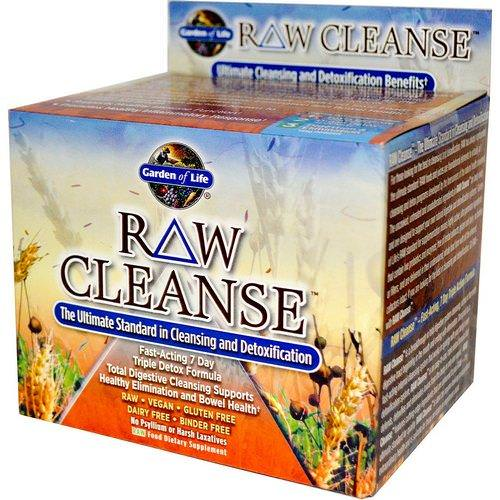 Garden of Life, RAW Cleanse, The Ultimate Standard in Cleansing and Detoxification, 3 Part Program, 3 Step Kit فوائد