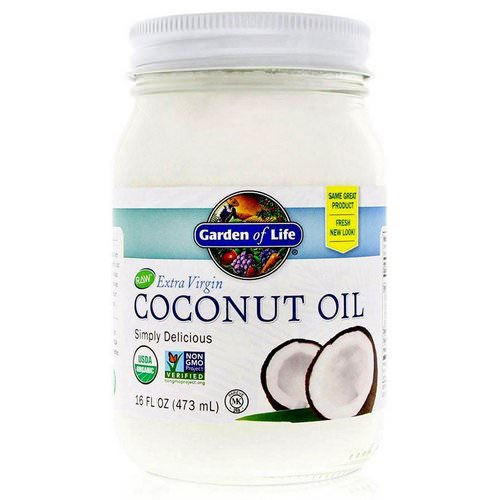 Garden of Life, Raw Extra Virgin Coconut Oil, 16 fl oz (473 ml) فوائد