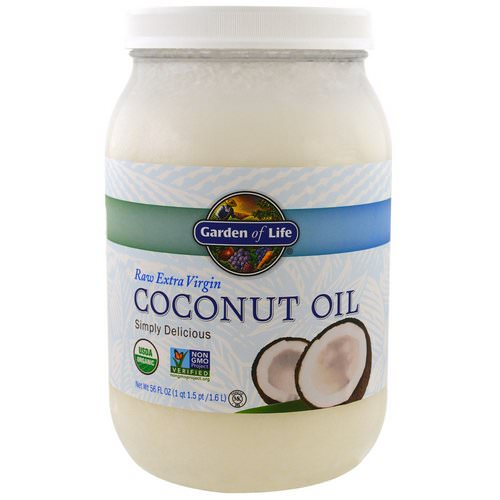 Garden of Life, Raw Extra Virgin Coconut Oil, 56 fl oz (1.6 l) فوائد