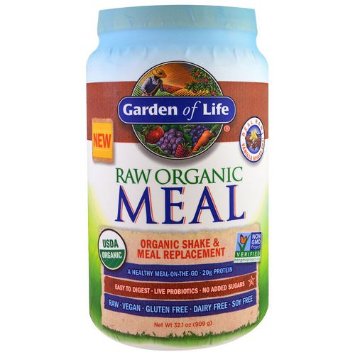 Garden of Life, RAW Organic Meal, Organic Shake and Meal Replacement, Vanilla Spiced Chai, 2 lbs (909 g) فوائد