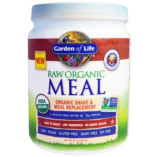 Garden of Life, RAW Organic Meal, Shake & Meal Replacement, Vanilla Spiced Chai, 16 oz (455 g) فوائد
