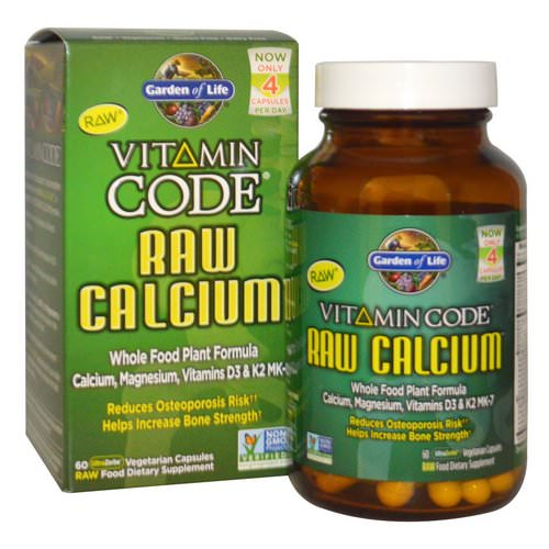 Garden of Life, Vitamin Code, Raw Calcium, 60 UltraZorbe Vegetarian Capsules فوائد
