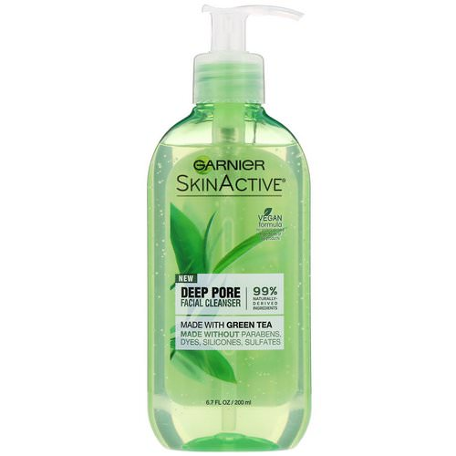 Garnier, SkinActive, Deep Pore Facial Cleanser with Green Tea, 6.7 fl oz (200 ml) فوائد