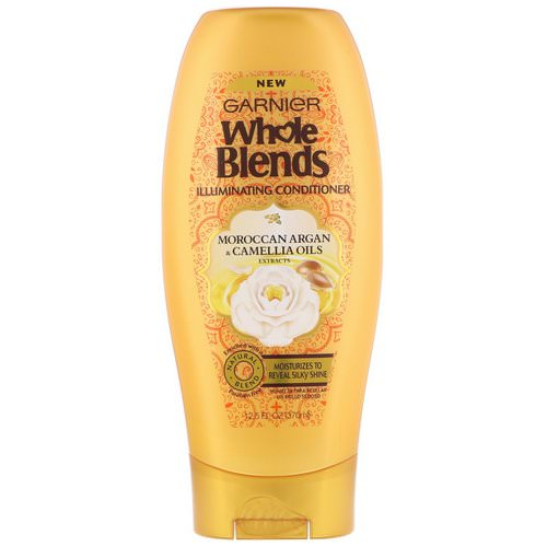 Garnier, Whole Blends, Illuminating Conditioner, Moroccan Argan & Camellia Oils Extracts, 12.5 fl oz (370 ml) فوائد