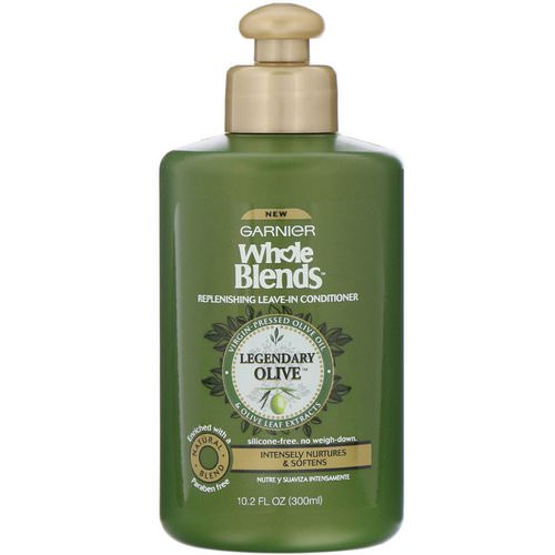 Garnier, Whole Blends, Replenishing Leave-In Conditioner, Legendary Olive, 10.2 oz (300 ml) فوائد