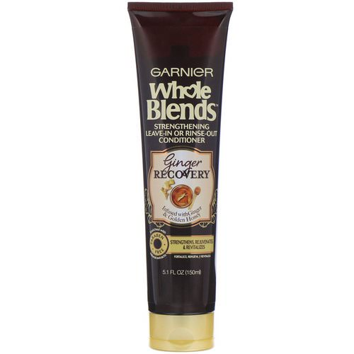 Garnier, Whole Blends, Strengthening Leave-In or Rinse-Out Conditioner, Ginger Recovery, 5.1 fl (150 ml) فوائد
