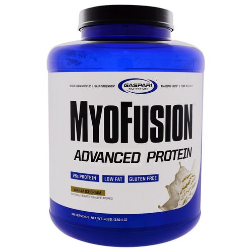 Gaspari Nutrition, MyoFusion, Advanced Protein, Vanilla Ice Cream, 4 lbs (1814 g) فوائد