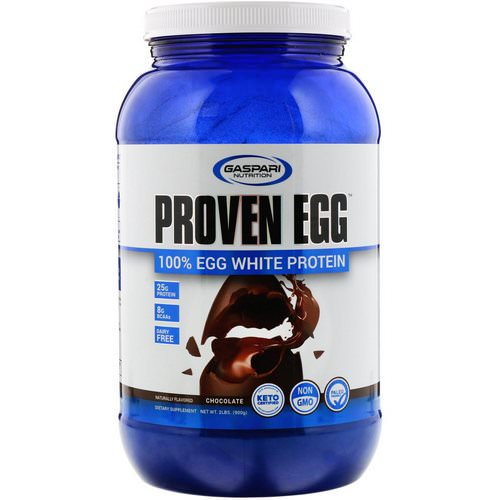 Gaspari Nutrition, Proven Egg, 100% Egg White Protein, Chocolate, 2 lb (900 g) فوائد