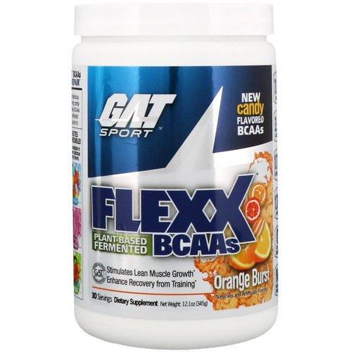 GAT, Flexx BCAAs, Orange Burst, 12.1 oz (345 g) فوائد