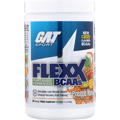 GAT, Flexx BCAAs, Pineapple Mango, 13.7 oz (390 g) فوائد