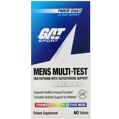 GAT, Mens Multi + Test, 60 Tablets فوائد