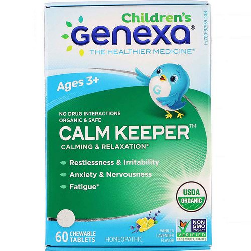 Genexa, Calm Keeper, Calming & Relaxation, Vanilla Lavender Flavor, Ages 3+, 60 Chewable Tablets فوائد