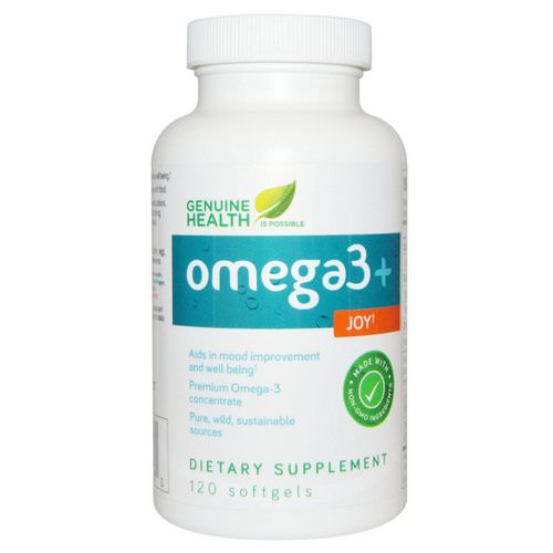 Genuine Health, Omega3 + Joy, 120 Softgels فوائد