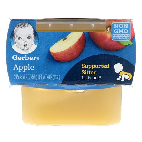 Gerber, 1st Foods, Apple, 2 Pack, 2 oz (56 g) Each فوائد