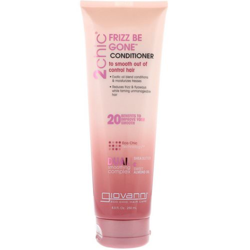 Giovanni, 2chic, Frizz Be Gone Conditioner, Shea Butter + Sweet Almond Oil, 8.5 fl oz (250 ml) فوائد