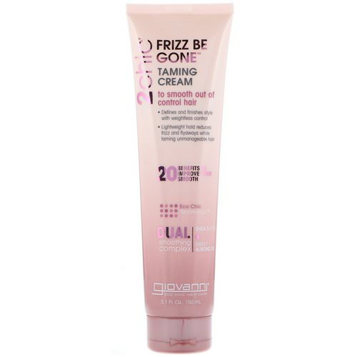 Giovanni, 2chic, Frizz Be Gone Taming Cream, Shea Butter & Sweet Almond Oil, 5.1 fl oz (150 ml) فوائد