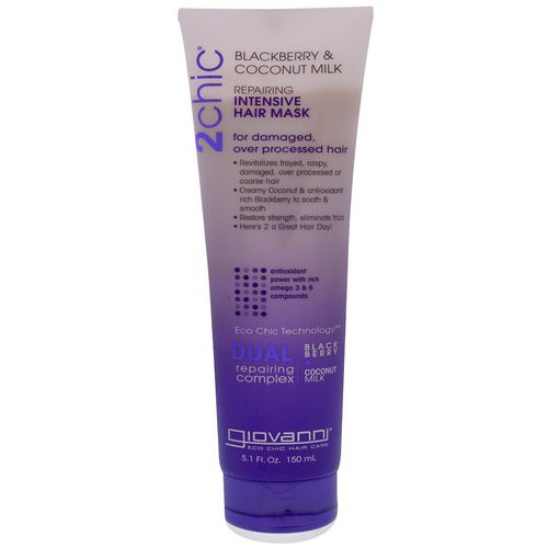 Giovanni, 2chic, Repairing, Intensive Hair Mask, Blackberry & Coconut Milk, 5.1 fl oz (150 ml) فوائد