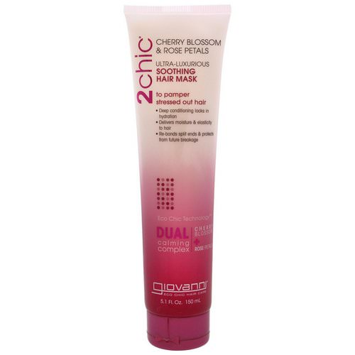 Giovanni, 2chic, Ultra-Luxurious, Soothing Hair Mask, Cherry Blossom & Rose Petals, 5.1 fl oz (150 ml) فوائد