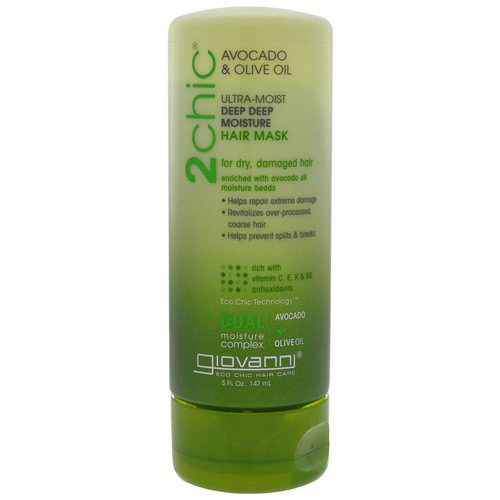 Giovanni, 2chic, Ultra-Moist, Deep Deep Moisture Hair Mask, Avocado & Olive Oil, 5 fl oz (147 ml) فوائد
