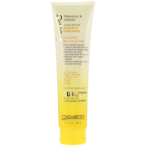 Giovanni, 2chic, Ultra-Revive, Intensive Hair Mask, Pineapple & Ginger, 5.1 fl oz (150 ml) فوائد