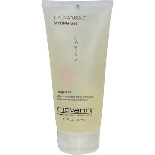 Giovanni, L.A. Natural, Styling Gel, Strong Hold, 6.8 fl oz (200 ml) فوائد