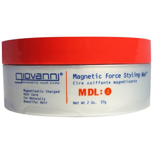 Giovanni, Magnetic Force Styling Wax, MDL: 2, 2 oz (57 g) فوائد