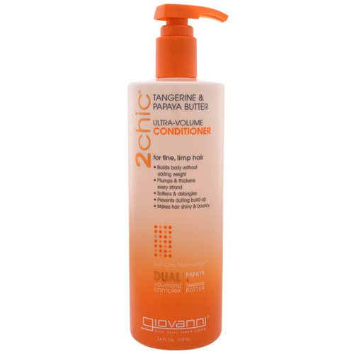 Giovanni, Ultra-Volume Conditioner, for Fine Limp Hair, Tangerine & Papaya Butter, 24 fl oz (710 ml) فوائد