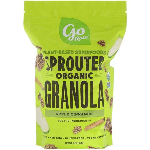 Go Raw, Organic Sprouted Granola, Apple Cinnamon, 16 oz (454 g) فوائد