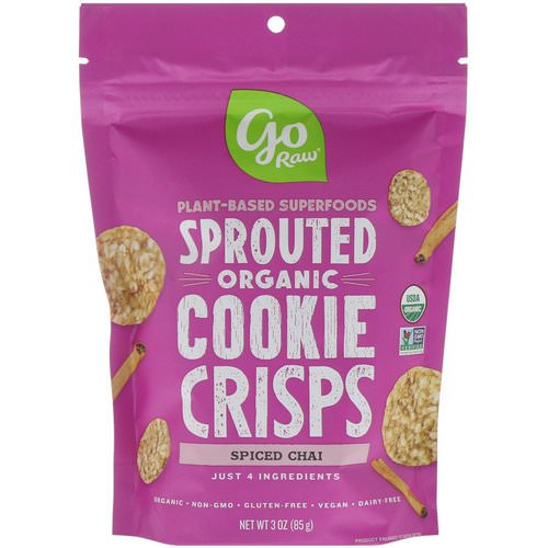 Go Raw, Organic, Sprouted Cookie Crisps, Spiced Chai, 3 oz (85 g) فوائد