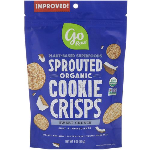 Go Raw, Organic, Sprouted Cookie Crisps, Sweet Crunch, 3 oz (85 g) فوائد