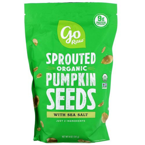 Go Raw, Organic Sprouted Pumpkin Seeds with Sea Salt, 14 oz (397 g) فوائد