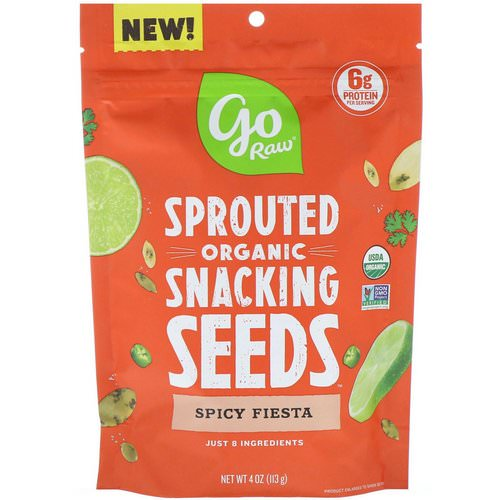Go Raw, Organic, Sprouted Snacking Seeds, Spicy Fiesta, 4 oz (113 g) فوائد
