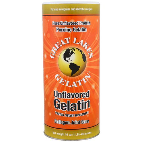 Great Lakes Gelatin Co, Porcine Gelatin, Collagen Joint Care, Unflavored, 16 oz (454 g) فوائد