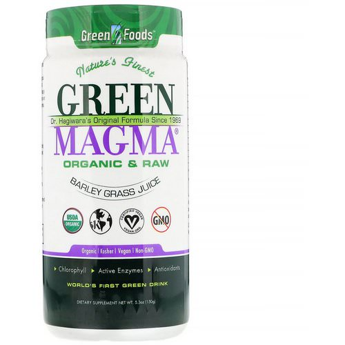 Green Foods, Green Magma, Barley Grass Juice, 5.3 oz (150 g) فوائد