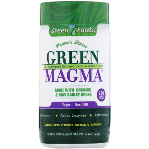 Green Foods, Green Magma, 500 mg, 250 Tablets فوائد