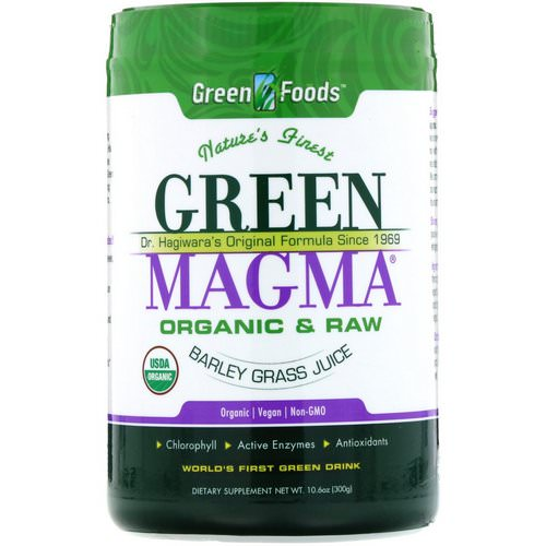 Green Foods, Green Magma, Barley Grass Juice, 10.6 oz (300 g) فوائد