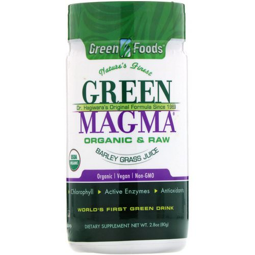 Green Foods, Green Magma, Barley Grass Juice, 2.8 oz (80 g) فوائد