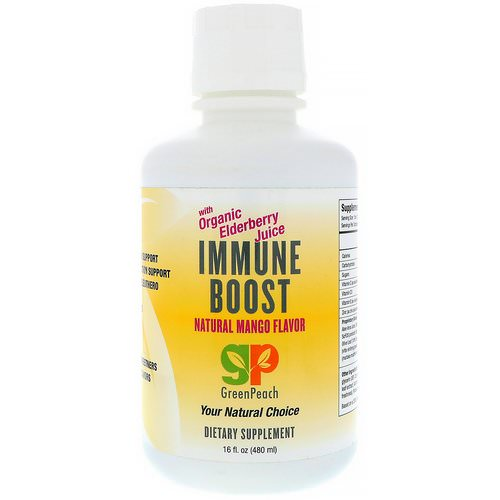 GreenPeach, Immune Boost, Natural Mango Flavor, 16 fl oz (480 ml) فوائد