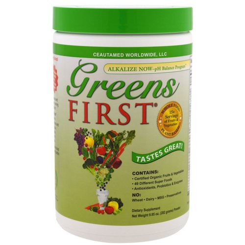 Greens First, Superfood Antioxidant Shake, Original, 9.95 oz (282 g) فوائد